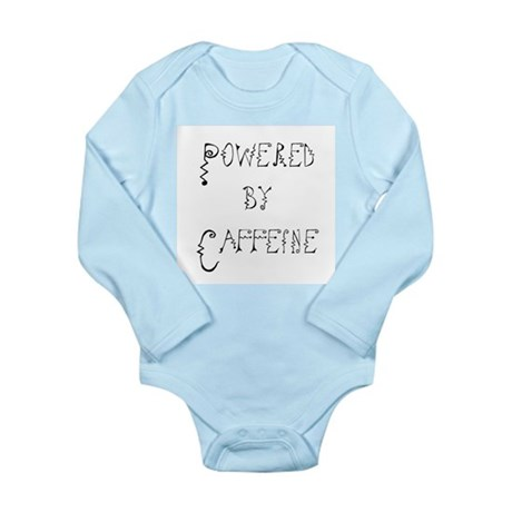 Powered by Caffeine Long Sleeve Infant Bodysuit