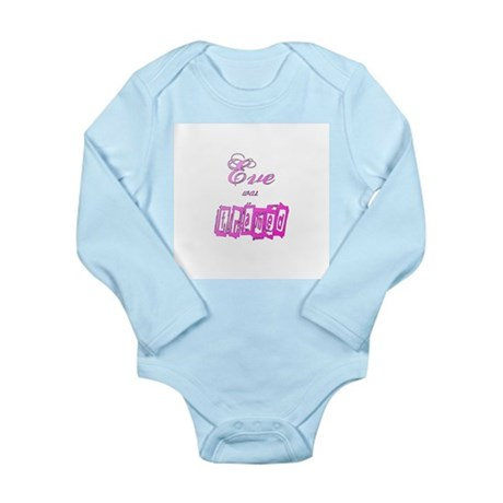 Eve was Framed Long Sleeve Infant Bodysuit