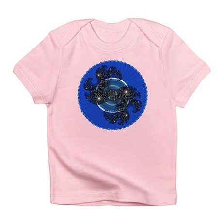 Fractal Kaleidoscope Blue Infant T-Shirt
