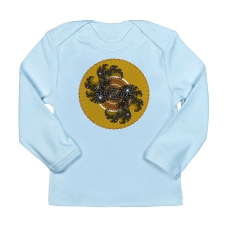 Fractal Kaleidoscope Gold Long Sleeve Infant T-Shi