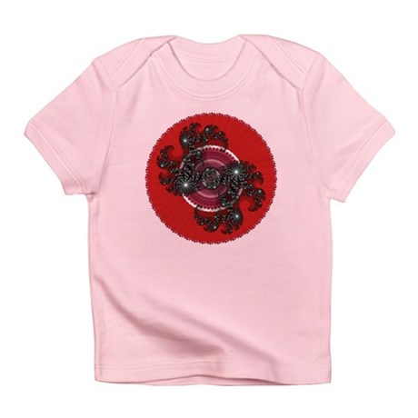 Fractal Kaleidoscope Red 2 Infant T-Shirt