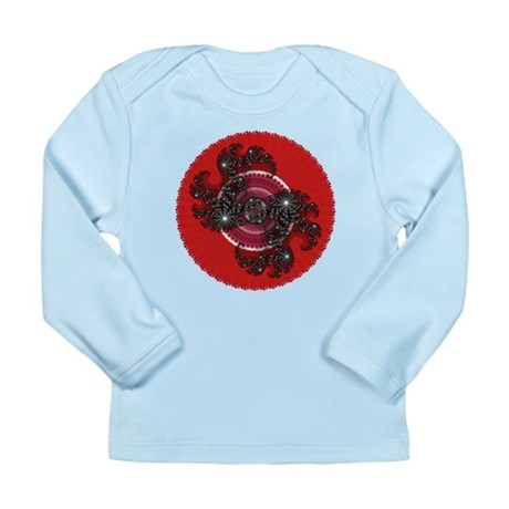 Fractal Kaleidoscope Red 2 Long Sleeve Infant T-Sh