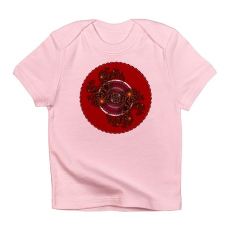 Fractal Kaleidoscope Red Infant T-Shirt