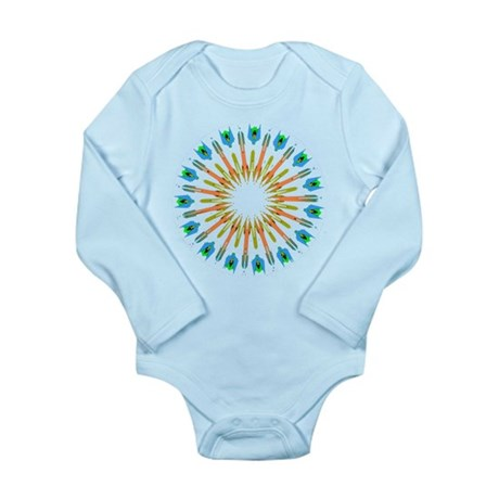 Kaleidoscope 003a1 Long Sleeve Infant Bodysuit