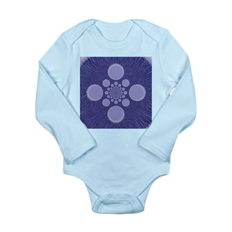 Fractal Long Sleeve Infant Bodysuit