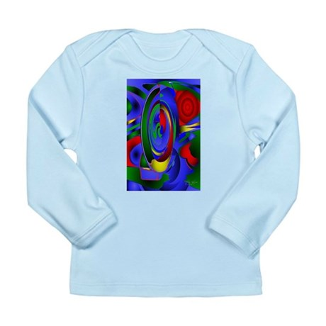 Abstract 001a Long Sleeve Infant T-Shirt