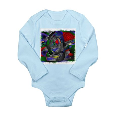 Abstract 002a Long Sleeve Infant Bodysuit