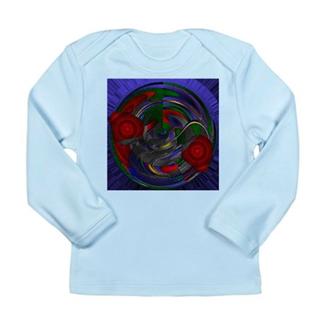 Abstract 005 Long Sleeve Infant T-Shirt