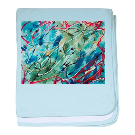 Untitled Abstract baby blanket