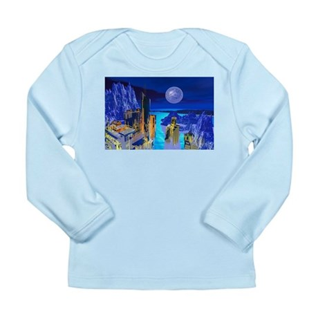 Fantasy Cityscape Long Sleeve Infant T-Shirt
