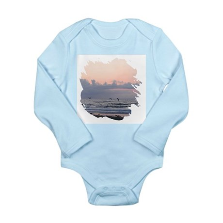 Seascape Long Sleeve Infant Bodysuit
