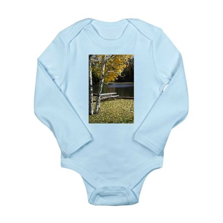 Picnic Table Long Sleeve Infant Bodysuit