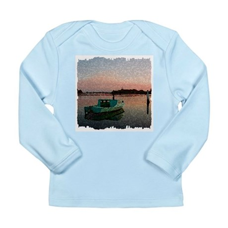 Sunset Boat Long Sleeve Infant T-Shirt