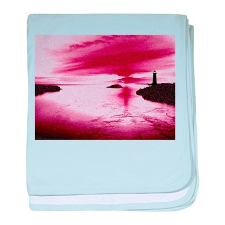 Lighthouse Sunset baby blanket