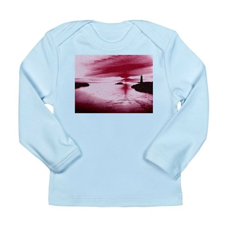 Lighthouse Sunset Long Sleeve Infant T-Shirt