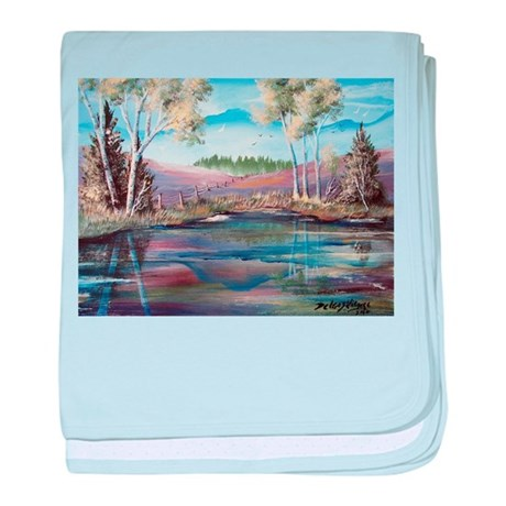 Countryside View baby blanket