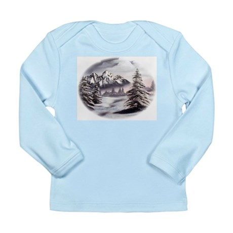 Snow Mountain Long Sleeve Infant T-Shirt