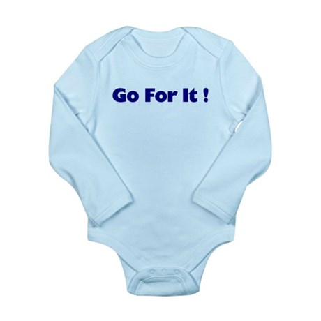 Go For It Long Sleeve Infant Bodysuit