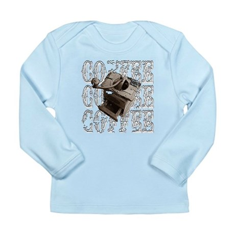 Coffee Grinder - White - Long Sleeve Infant T-Shir