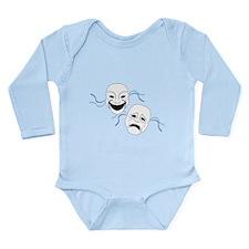 Theater Masks Long Sleeve Infant Bodysuit