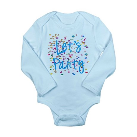 Let's Party Long Sleeve Infant Bodysuit