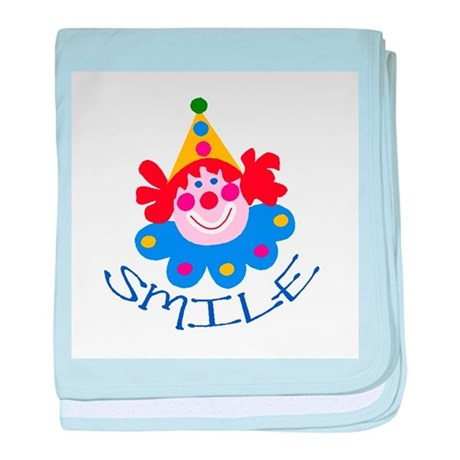 Clown baby blanket