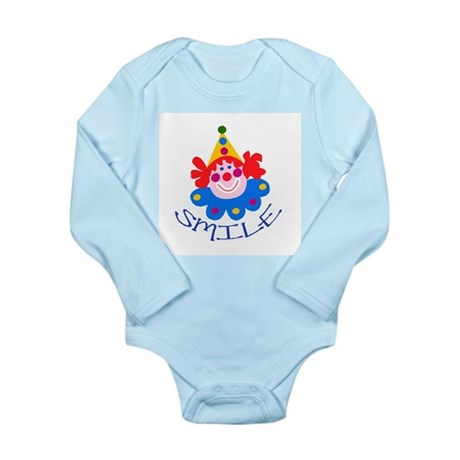 Clown Long Sleeve Infant Bodysuit