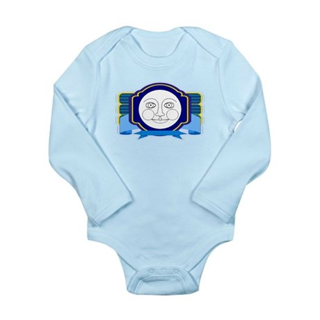 Blue Moon Face Long Sleeve Infant Bodysuit