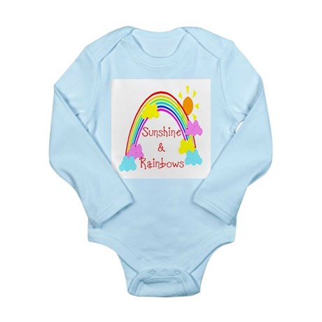 Sunshine Rainbows Long Sleeve Infant Bodysuit