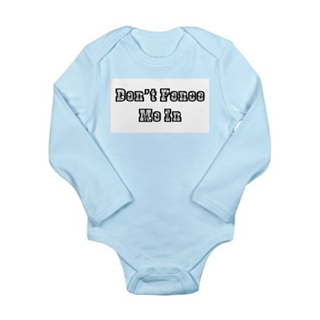 Don't Fence Me In Long Sleeve Infant Bodysuit
