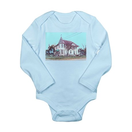 Old House on the Corner Long Sleeve Infant Bodysui