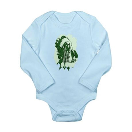 Indian Chief Long Sleeve Infant Bodysuit