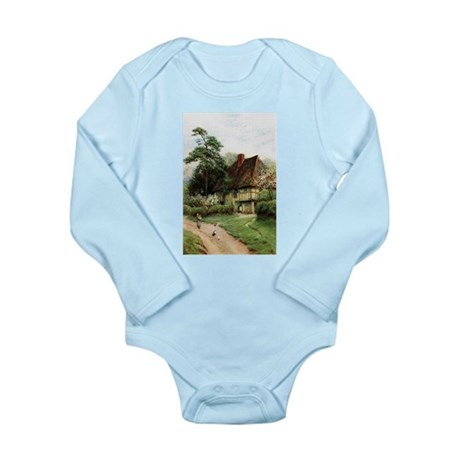 English Country Cottage Long Sleeve Infant Bodysui