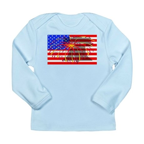 4th of July Independence Long Sleeve Infant T-Shir