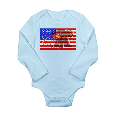 4th of July Independence Long Sleeve Infant Bodysu