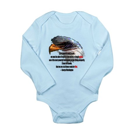 Peace and War Long Sleeve Infant Bodysuit