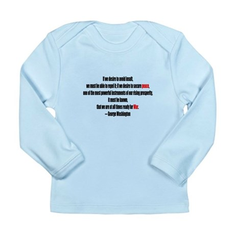 Peace and War Long Sleeve Infant T-Shirt