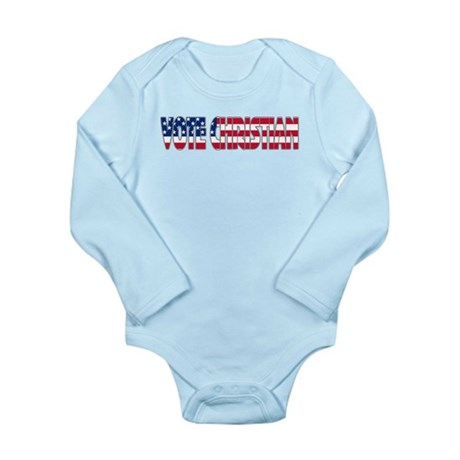 Vote Christian Long Sleeve Infant Bodysuit