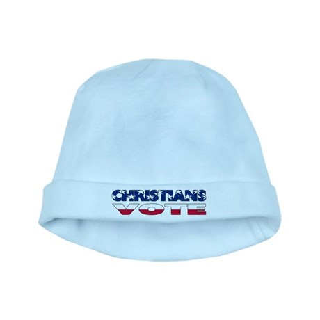 Christians Vote baby hat