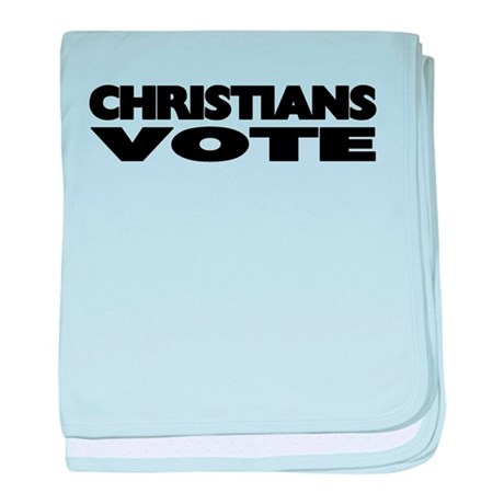Christians Vote baby blanket