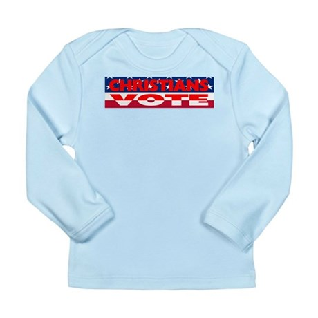Christians Vote Long Sleeve Infant T-Shirt