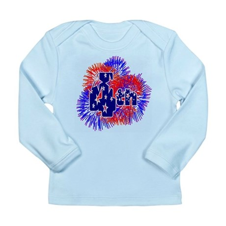 Fourth of July Long Sleeve Infant T-Shirt