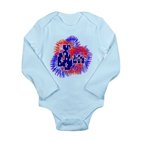 Fourth of July Long Sleeve Infant Bodysuit