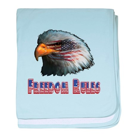 Freedom Rules Eagle baby blanket