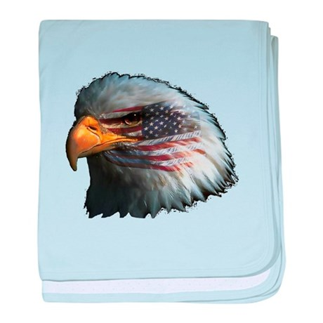American Flag Eagle baby blanket
