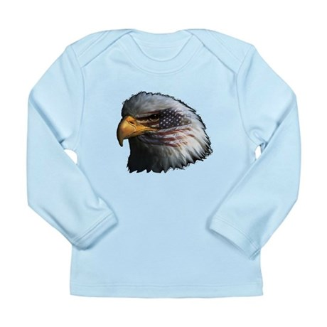 American Flag Eagle Long Sleeve Infant T-Shirt