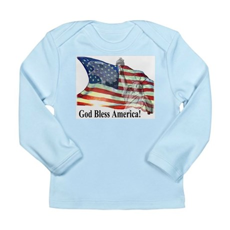God Bless America! Long Sleeve Infant T-Shirt