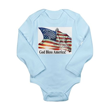 God Bless America! Long Sleeve Infant Bodysuit