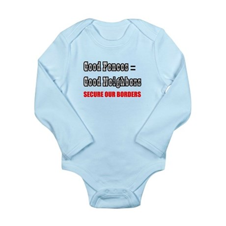 Anti Illegal Immigration Long Sleeve Infant Bodysu