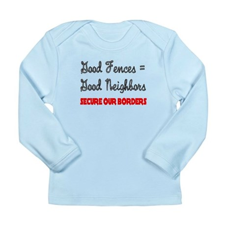Anti Illegal Immigration Long Sleeve Infant T-Shir